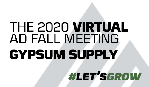 AD's Gypsum Supply Division welcomes over 200 members and suppliers to second virtual meeting