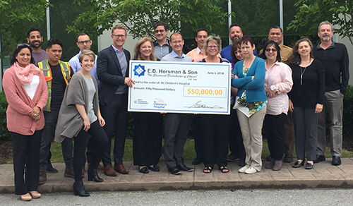 E.B. Horsman & Son Donates $50,000 to the BC Children's Hospital Foundation