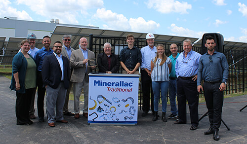 Minerallac Company has gone 100% Solar Powered